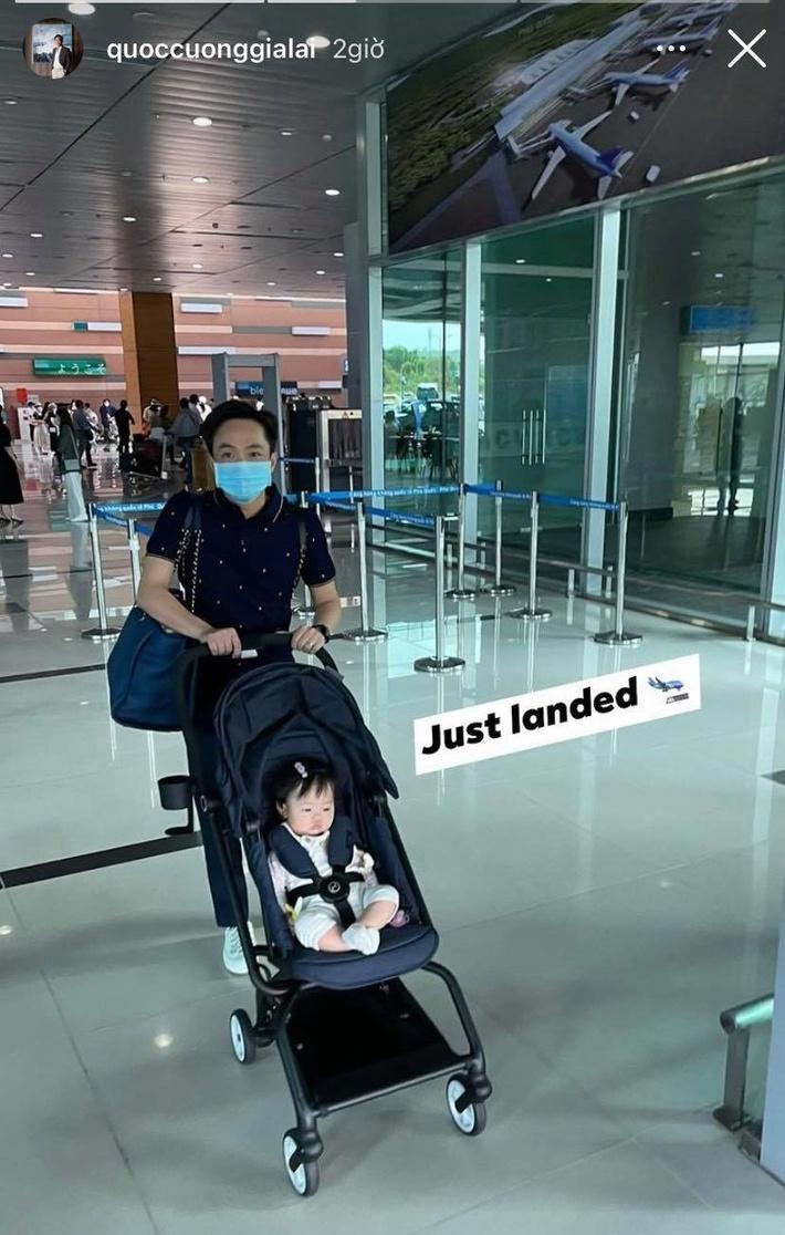 Cường Đô La hào hứng khoe ảnh gia đình đi du lịch nhưng lại vô tình để lộ gương mặt mộc mạc của bà xã Đàm Thu Trang - Ảnh 4.