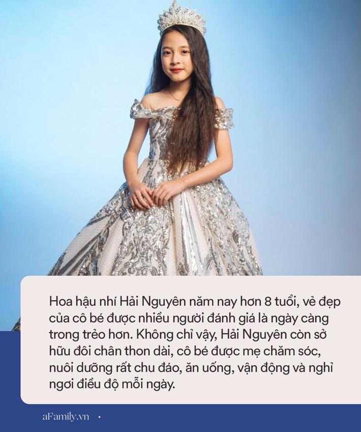 Hoa hậu nhí Việt Nam hơn 8 tuổi đã sở hữu đôi chân thon dài, mẹ tiết lộ món thức uống không thể thiếu của bé mỗi ngày để tăng chiều cao - Ảnh 3.