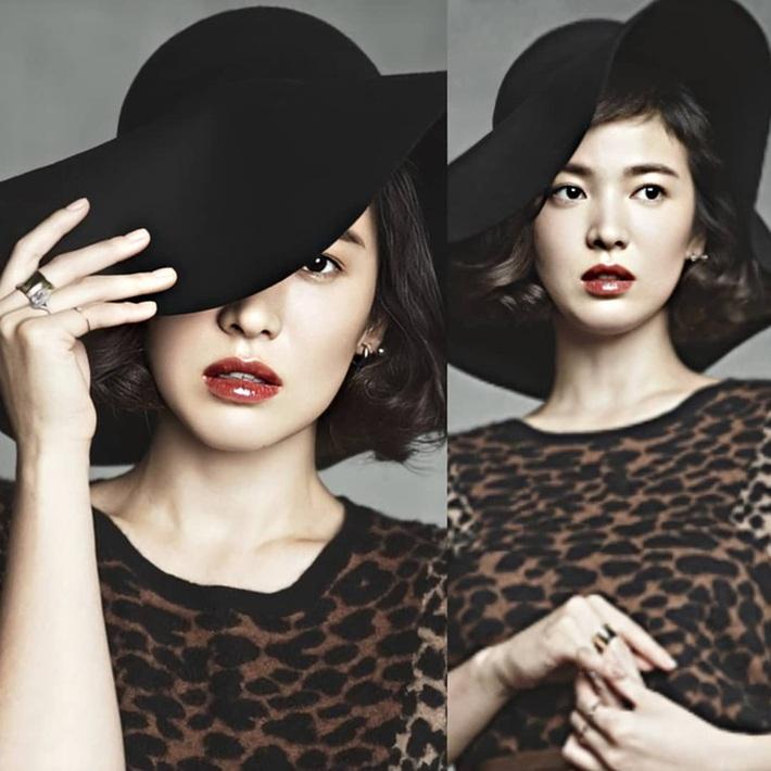 Nhan sắc của Song Hye Kyo xuất chúng đến nỗi chấp được cả những kiểu mũ sến và xuề xoà nhất! - Ảnh 8.