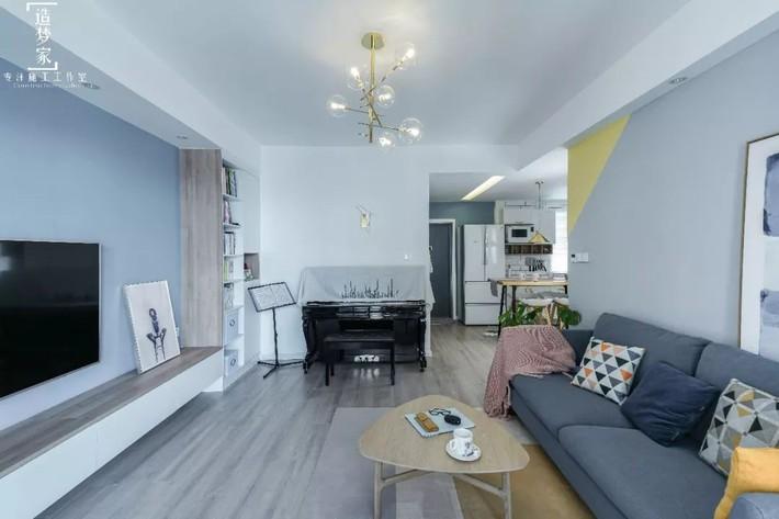 Cô gái sống vui vẻ trong căn hộ 90m2 nhờ vẻ đẹp đơn giản và tươi mới trong cách kết hợp màu sắc - Ảnh 4.