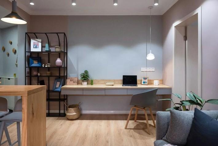 Phong cách Bắc Âu nhẹ nhàng với tông màu xanh, ghi, hồng được kết hợp vô cùng đặc biệt trong căn hộ 56m²  - Ảnh 9.