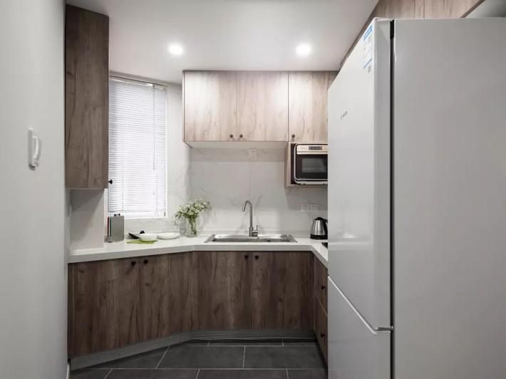 Phong cách Bắc Âu nhẹ nhàng với tông màu xanh, ghi, hồng được kết hợp vô cùng đặc biệt trong căn hộ 56m²  - Ảnh 11.