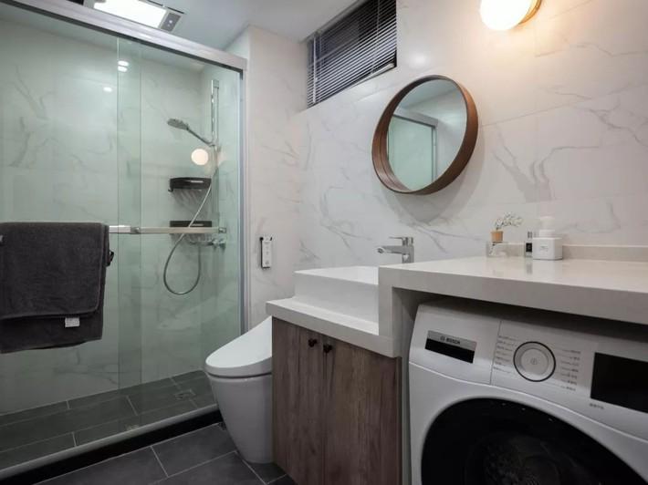 Phong cách Bắc Âu nhẹ nhàng với tông màu xanh, ghi, hồng được kết hợp vô cùng đặc biệt trong căn hộ 56m²  - Ảnh 17.