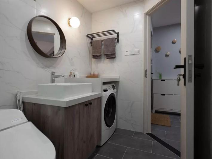 Phong cách Bắc Âu nhẹ nhàng với tông màu xanh, ghi, hồng được kết hợp vô cùng đặc biệt trong căn hộ 56m²  - Ảnh 16.