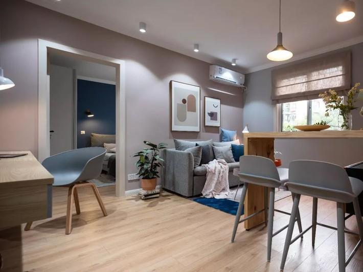 Phong cách Bắc Âu nhẹ nhàng với tông màu xanh, ghi, hồng được kết hợp vô cùng đặc biệt trong căn hộ 56m²  - Ảnh 6.