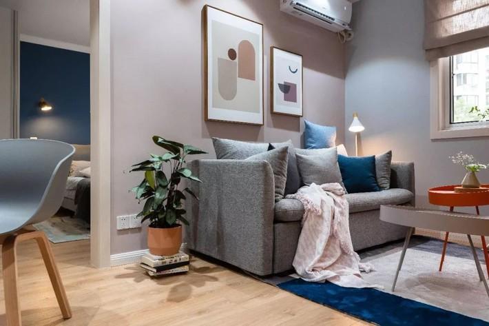 Phong cách Bắc Âu nhẹ nhàng với tông màu xanh, ghi, hồng được kết hợp vô cùng đặc biệt trong căn hộ 56m²  - Ảnh 5.
