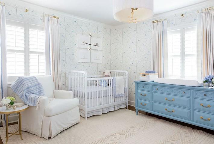 Những mẫu thiết kế phòng trẻ sơ sinh đủ khiến bạn choáng ngợp chẳng nói nên lời - Ảnh 1.