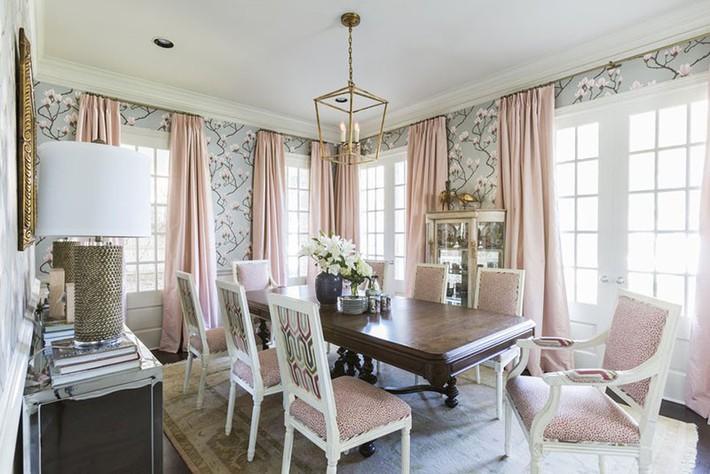 Chìm đắm trong vẻ đẹp ngọt ngào của những căn phòng ăn được tô điểm với sắc hồng - Ảnh 3.