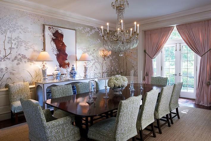Chìm đắm trong vẻ đẹp ngọt ngào của những căn phòng ăn được tô điểm với sắc hồng - Ảnh 4.
