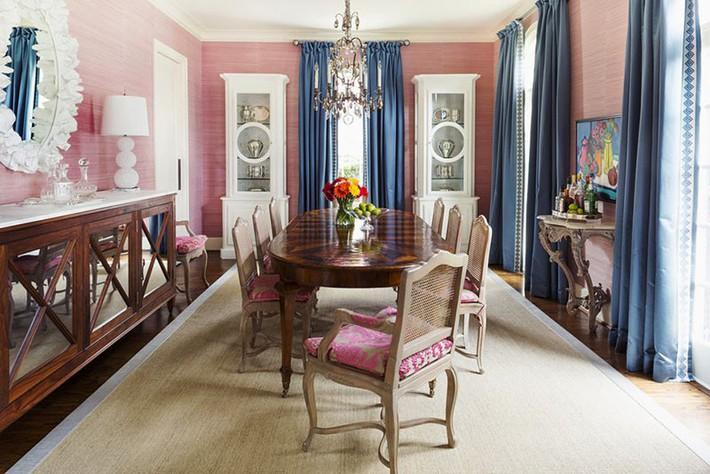 Chìm đắm trong vẻ đẹp ngọt ngào của những căn phòng ăn được tô điểm với sắc hồng - Ảnh 6.