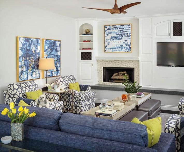 Chiêm ngưỡng vẻ đẹp của những căn phòng khách mang phong cách đầy ngẫu hứng - Ảnh 1.