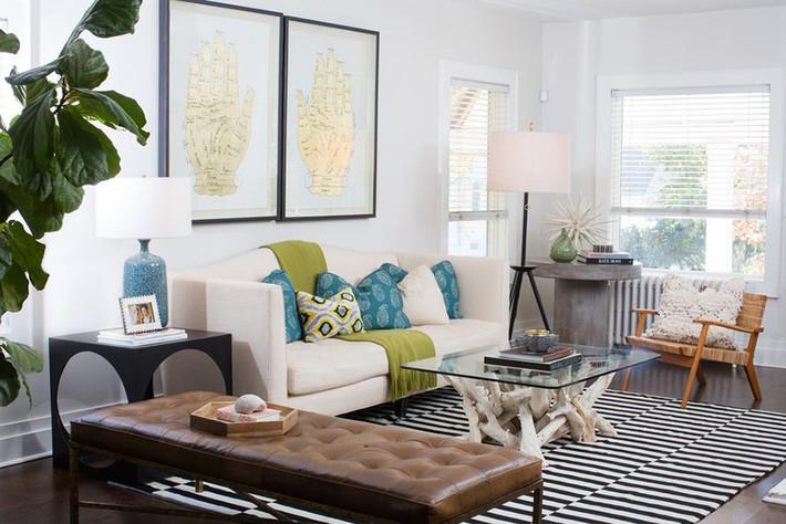 Chiêm ngưỡng vẻ đẹp của những căn phòng khách mang phong cách đầy ngẫu hứng - Ảnh 10.