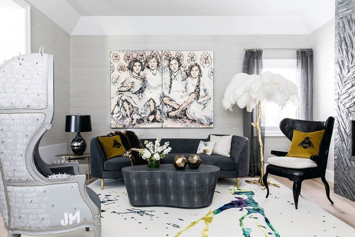 Chiêm ngưỡng vẻ đẹp của những căn phòng khách mang phong cách đầy ngẫu hứng - Ảnh 4.