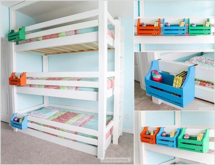 Lấy cảm hứng từ chất liệu gỗ, bạn có thể làm được vô số vật dụng hữu ích cho phòng ngủ của con mình - Ảnh 12.