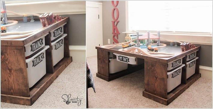 Lấy cảm hứng từ chất liệu gỗ, bạn có thể làm được vô số vật dụng hữu ích cho phòng ngủ của con mình - Ảnh 8.