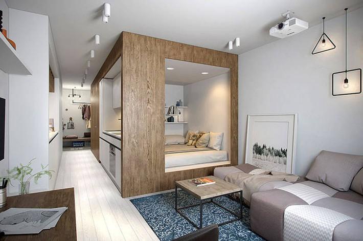 Gợi ý 10 thiết kế phòng ngủ cho căn hộ có diện tích nhỏ mà bạn có thể áp dụng ngay  - Ảnh 11.