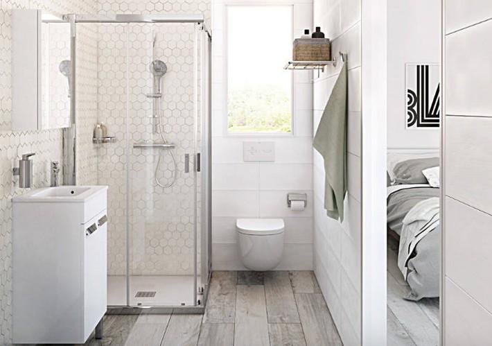 Có một cuộc cách mạng trong thiết kế phòng tắm nhỏ với 8 xu hướng phá vỡ quy tắc   - Ảnh 8.