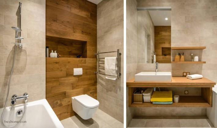 Có một cuộc cách mạng trong thiết kế phòng tắm nhỏ với 8 xu hướng phá vỡ quy tắc   - Ảnh 14.