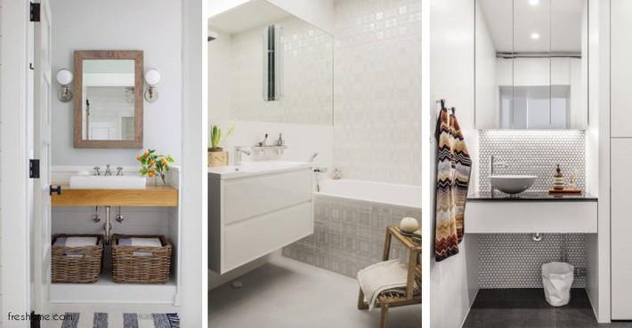 Có một cuộc cách mạng trong thiết kế phòng tắm nhỏ với 8 xu hướng phá vỡ quy tắc   - Ảnh 15.