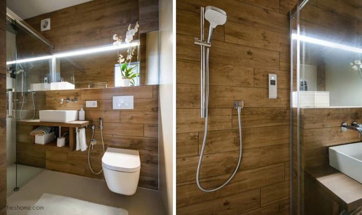 Có một cuộc cách mạng trong thiết kế phòng tắm nhỏ với 8 xu hướng phá vỡ quy tắc   - Ảnh 16.