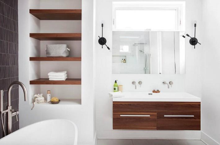 Có một cuộc cách mạng trong thiết kế phòng tắm nhỏ với 8 xu hướng phá vỡ quy tắc   - Ảnh 17.
