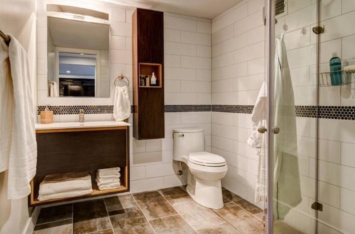Có một cuộc cách mạng trong thiết kế phòng tắm nhỏ với 8 xu hướng phá vỡ quy tắc   - Ảnh 18.