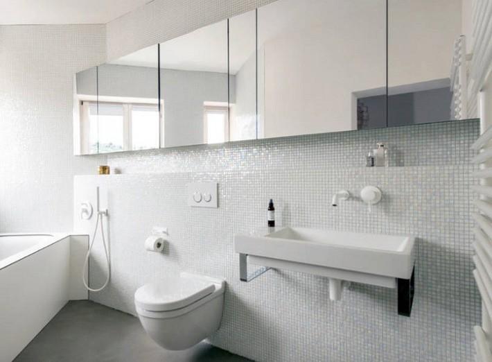 Có một cuộc cách mạng trong thiết kế phòng tắm nhỏ với 8 xu hướng phá vỡ quy tắc   - Ảnh 20.