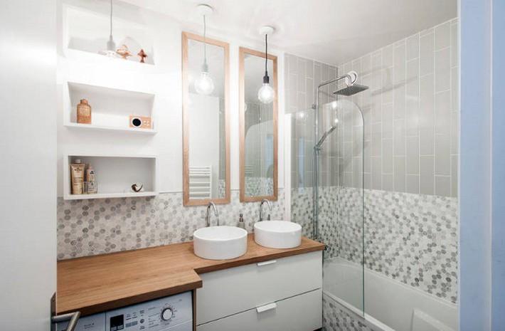 Có một cuộc cách mạng trong thiết kế phòng tắm nhỏ với 8 xu hướng phá vỡ quy tắc   - Ảnh 4.