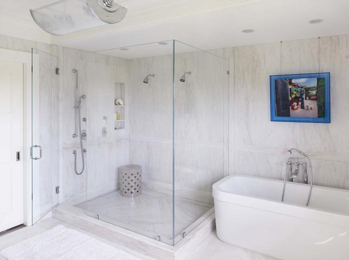 Đâu chỉ phòng khách, phòng ngủ mà phòng tắm cũng cần có một bức tranh treo tường - Ảnh 11.