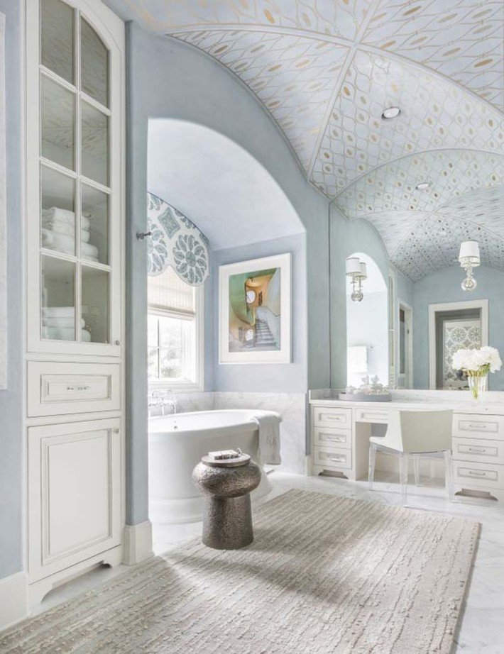 Đâu chỉ phòng khách, phòng ngủ mà phòng tắm cũng cần có một bức tranh treo tường - Ảnh 16.