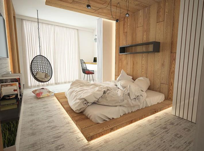 Có sự hỗ trợ của đèn led thì bộ giường ngủ đơn điệu của gia đình cũng trở nên thu hút đến bất ngờ - Ảnh 1.
