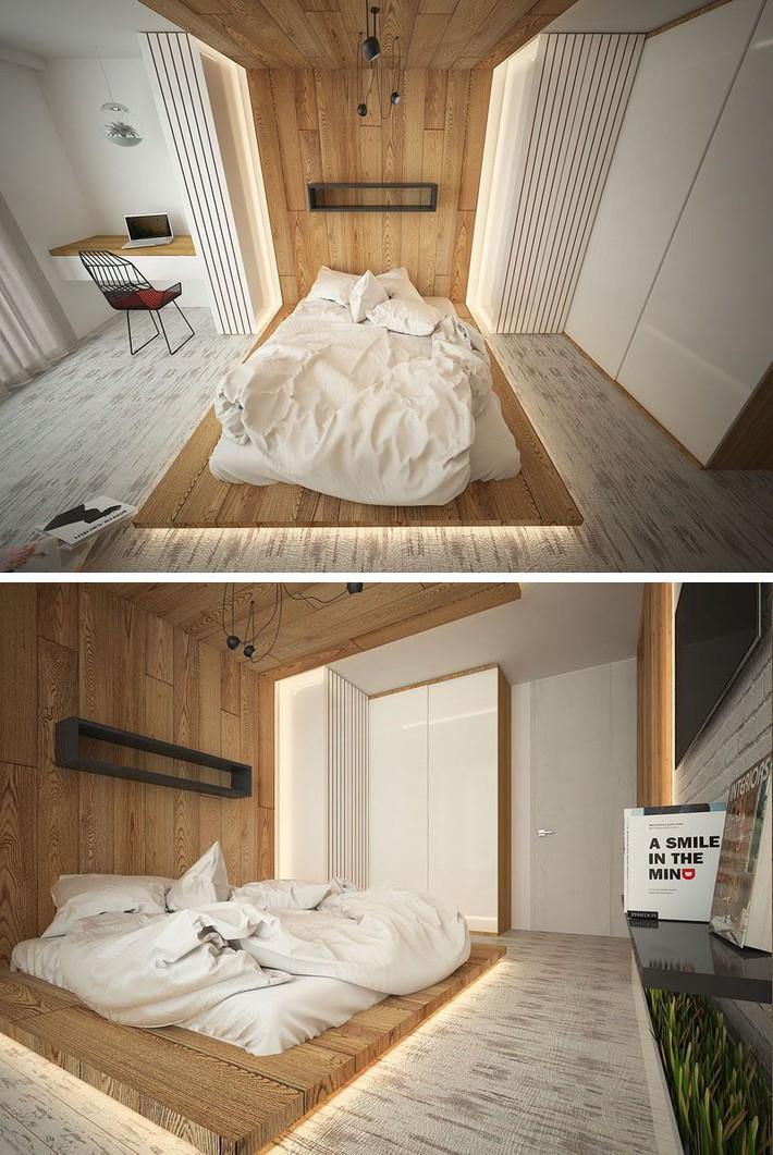 Có sự hỗ trợ của đèn led thì bộ giường ngủ đơn điệu của gia đình cũng trở nên thu hút đến bất ngờ - Ảnh 3.