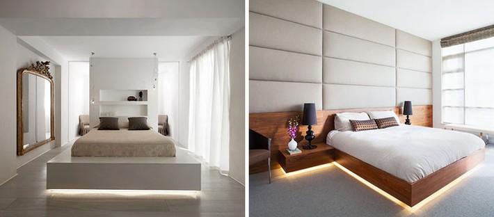 Có sự hỗ trợ của đèn led thì bộ giường ngủ đơn điệu của gia đình cũng trở nên thu hút đến bất ngờ - Ảnh 6.