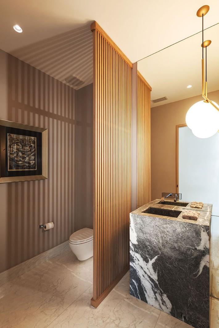 Lại thêm một không gian sống ấm cúng để bạn tham khảo có sự xuất hiện của gỗ và đá ở mọi nơi - Ảnh 12.