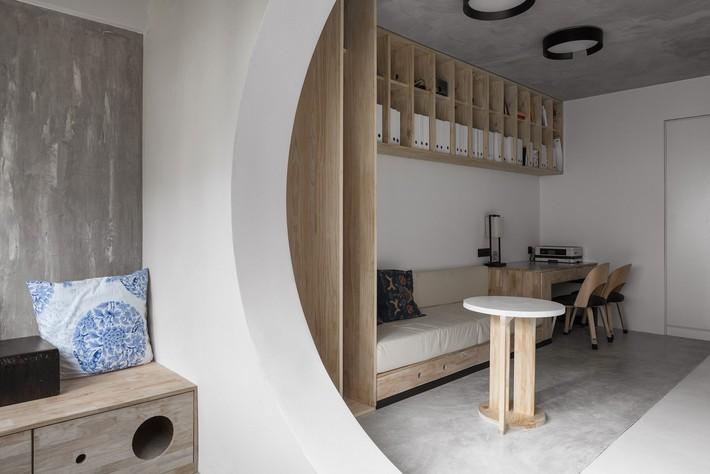Căn hộ 71m2 gây thương nhớ với vẻ đẹp thân quen và bình dị của gỗ ở Trùng Khánh, Trung Quốc - Ảnh 1.