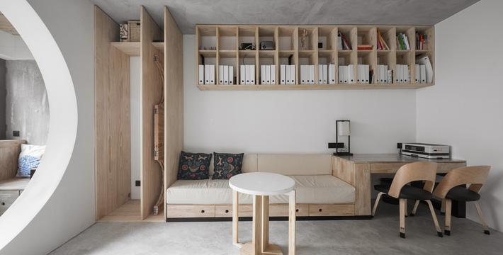 Căn hộ 71m2 gây thương nhớ với vẻ đẹp thân quen và bình dị của gỗ ở Trùng Khánh, Trung Quốc - Ảnh 5.