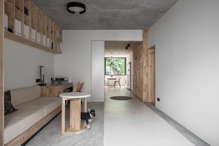 Căn hộ 71m2 gây thương nhớ với vẻ đẹp thân quen và bình dị của gỗ ở Trùng Khánh, Trung Quốc - Ảnh 4.