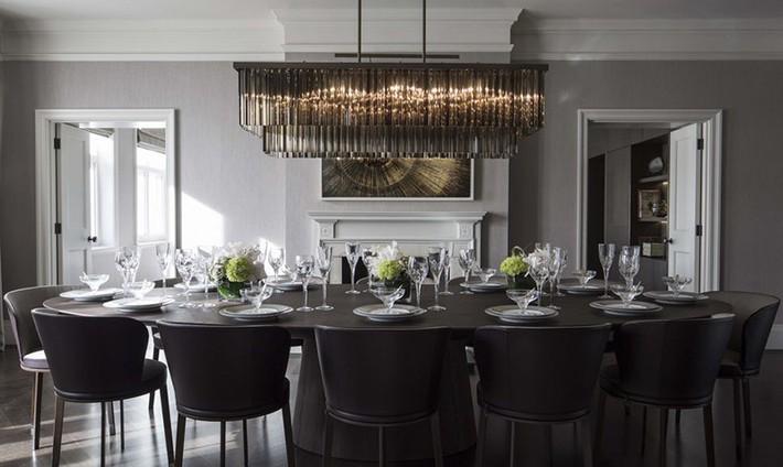 Hãy cẩn thận không bạn sẽ bị choáng ngợp bởi những căn phòng ăn dành riêng cho đại gia đình này - Ảnh 13.