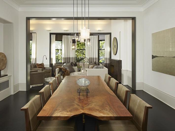 Hãy cẩn thận không bạn sẽ bị choáng ngợp bởi những căn phòng ăn dành riêng cho đại gia đình này - Ảnh 8.