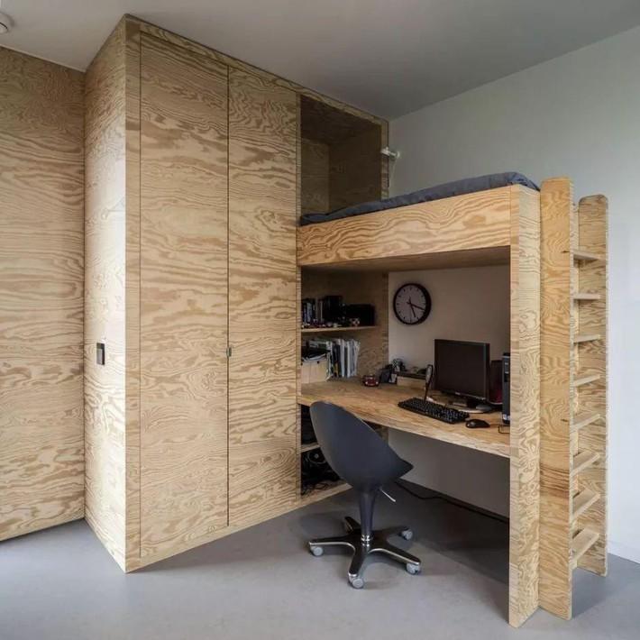 Những chiếc giường tiết kiệm không gian một cách hoàn hảo - Ảnh 13.