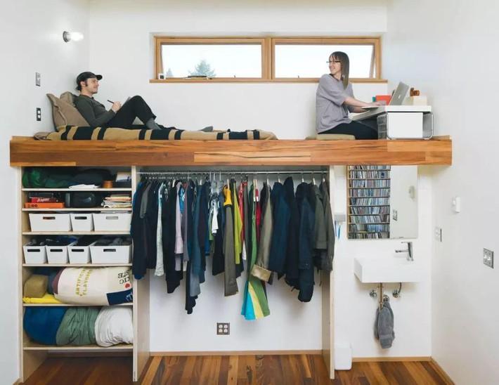 Những chiếc giường tiết kiệm không gian một cách hoàn hảo - Ảnh 4.