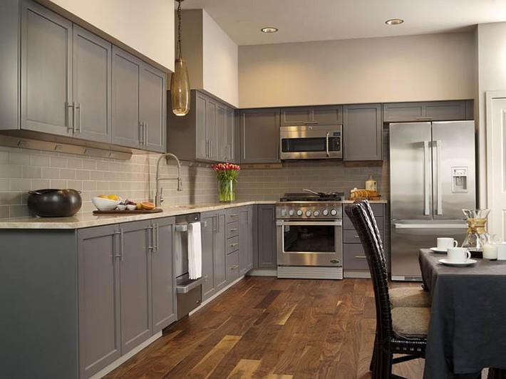 Có lẽ chính bạn cũng chẳng thể ngờ đến những căn bếp màu xám lại có thể đẹp đến vậy - Ảnh 13.