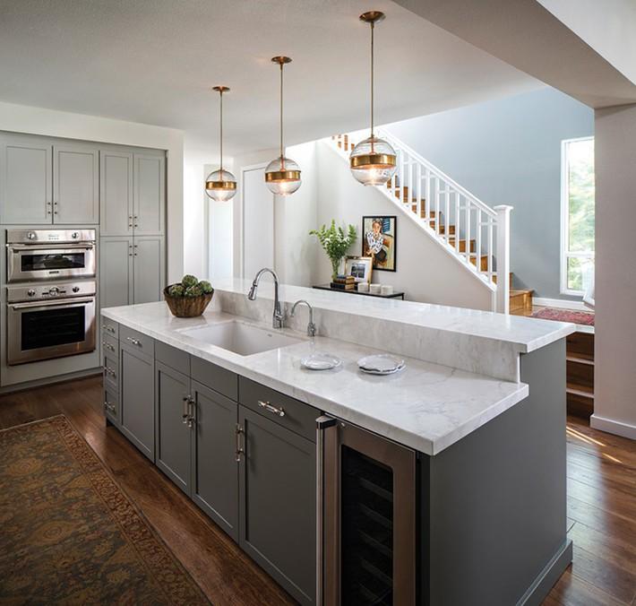 Có lẽ chính bạn cũng chẳng thể ngờ đến những căn bếp màu xám lại có thể đẹp đến vậy - Ảnh 6.