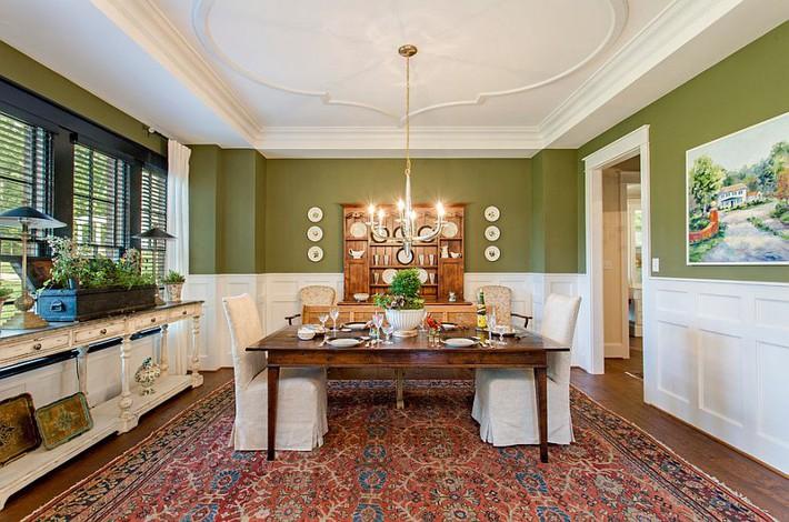 Xu hướng thiết kế phòng ăn màu xanh lá cây phong cách tươi mới lại dễ chịu, hợp thời - Ảnh 11.