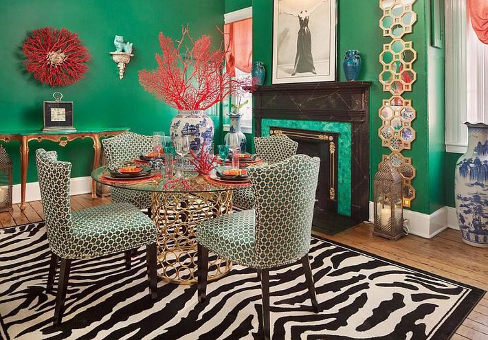 Xu hướng thiết kế phòng ăn màu xanh lá cây phong cách tươi mới lại dễ chịu, hợp thời - Ảnh 3.