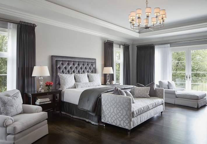 Đã mắt nhìn ngắm những căn phòng ngủ đẹp mơ màng với thiết kế cửa kiểu Pháp - Ảnh 15.