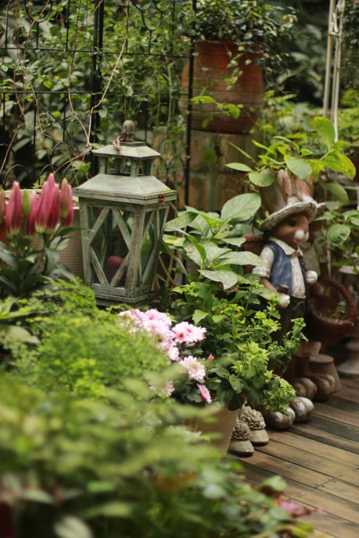 Khu vườn rực rỡ như xứ sở thần tiên của cô gái xinh đẹp với đủ loại hoa khoe sắc - Ảnh 20.