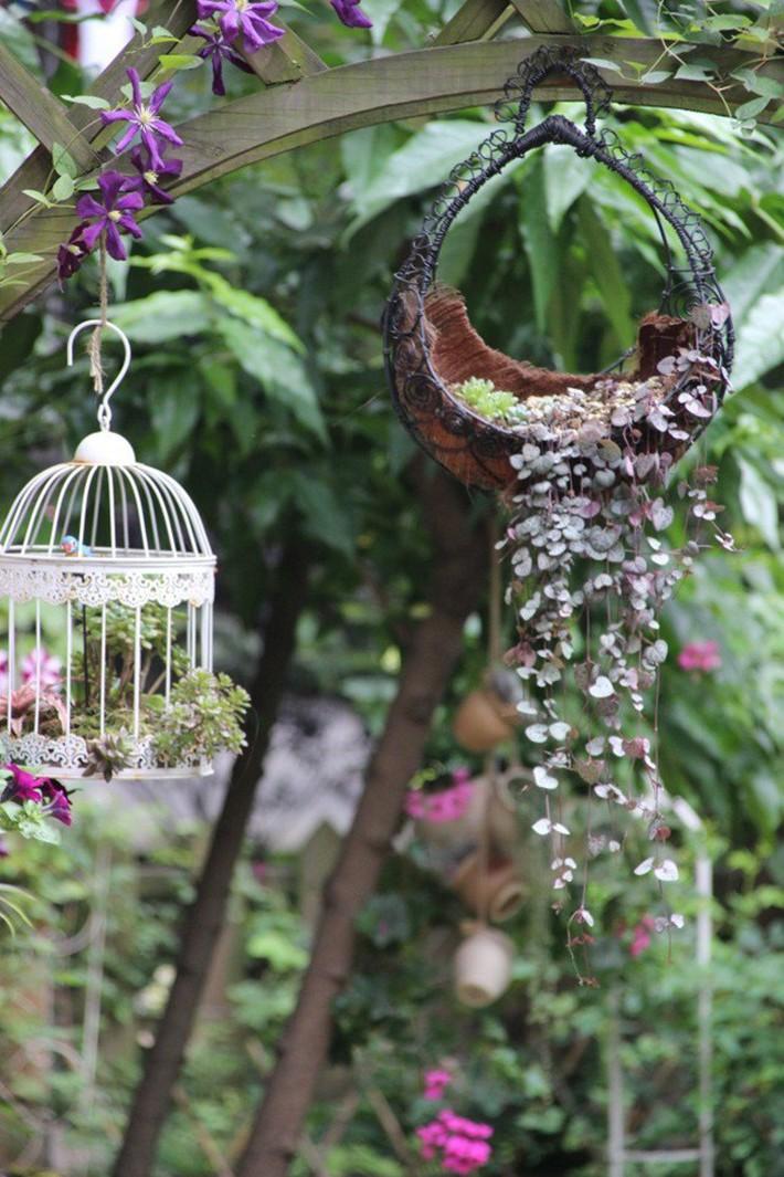 Khu vườn rực rỡ như xứ sở thần tiên của cô gái xinh đẹp với đủ loại hoa khoe sắc - Ảnh 17.