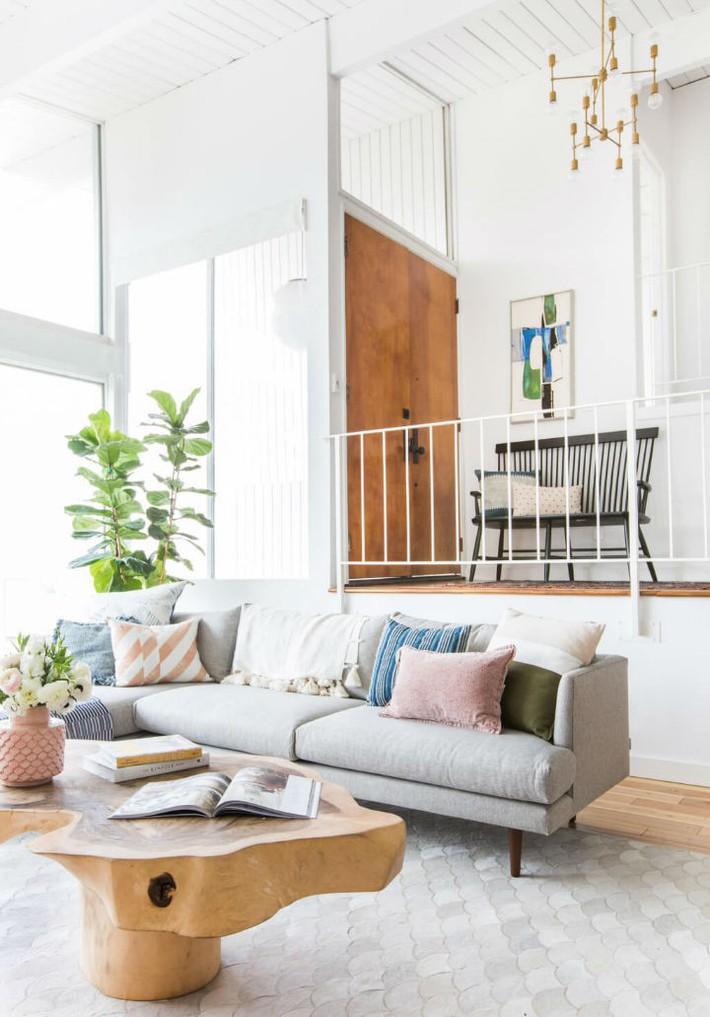 Gợi ý thiết kế phòng khách phù hợp cho những cô nàng có tính cách hướng ngoại, sáng sủa - Ảnh 1.