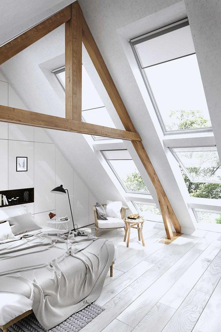 2 cách thiết kế thông minh và hữu ích cho không gian phòng ngủ gác mái mà bạn cần phải biết  - Ảnh 2.